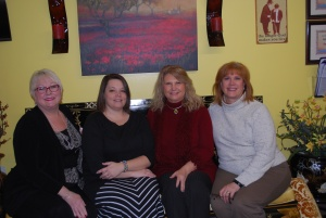 Linda Bambino, owner, Wendy Smith, Donna Baker, and Cindy Sproles