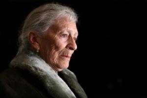 Senior woman contemplating